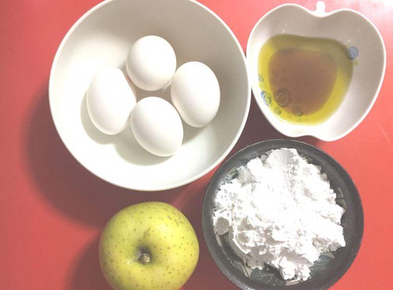 リンゴのカップケーキ・材料