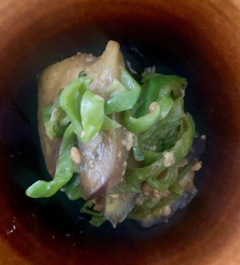 レシピ:ピーマンと茄子の醤炒め